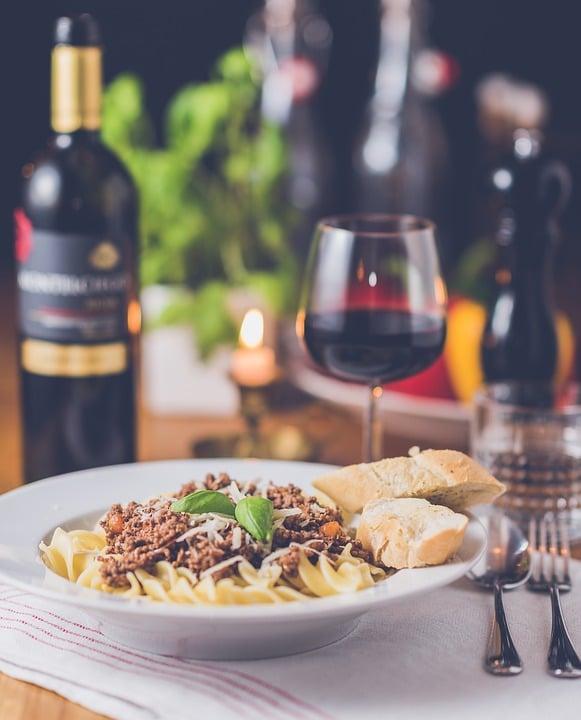 vin og pasta